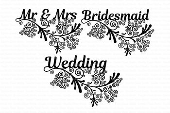 Wedding Friezes floral SVG files for Silhouette Cameo and Cricut. Clipart