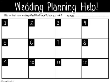 Wedding Planning Task Cards (Multiplication and Division)