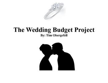 "Wedding Project ""Budgeting Your Future Wedding"""