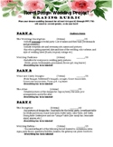 Wedding Project Rubric- Floral Design, Agriculture Science