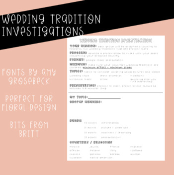 Wedding Tradition Investigations