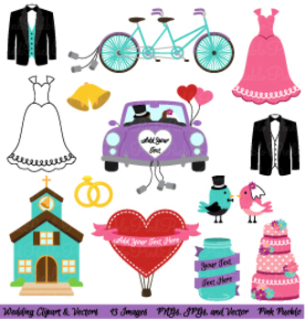 Wedding and Bridal Clipart and Vectors