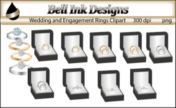 Wedding and Engagement Rings Clipart