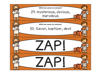 Wedding at Cana ZAP! Subjects, Parts of Speech, Synonyms, Plurals