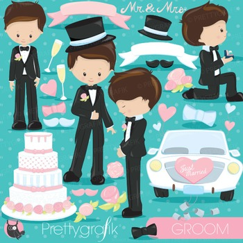 Wedding groom clipart commercial use, vector graphics, digital - CL831