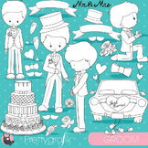 Wedding groom stamps commercial use, vector graphics, images - DS831