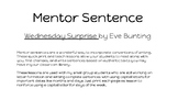 Wednesday Surprise by Eve Bunting capitalizing days of the week POP minilesson