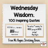Wednesday Wisdom: Inspirational Quotes Collection