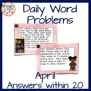 Wednesday Word Problems- April