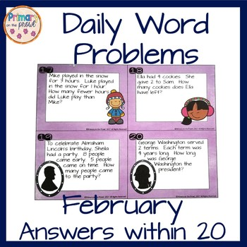 Wednesday Word Problems- February