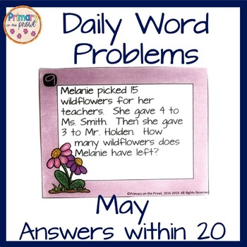 Wednesday Word Problems- May