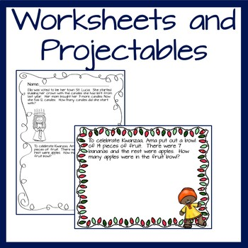 Wednesday Word Problems for Kindergarten- December