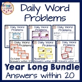 Word Problems within 20 Daily Practice YEAR LONG BUNDLE