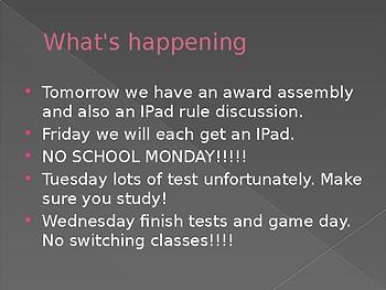 Wednesday update
