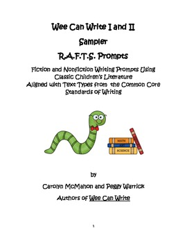 Wee Can Write I and II Sampler R.A.F.T.S. Prompts Aligned with Text Types