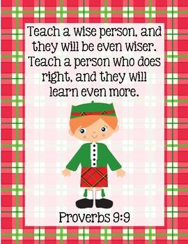 Wee Gillis Bible Verse Printable (Proverbs 9:9)