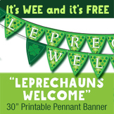 "Wee ""Leprechauns Welcome"" Printable Pennant Banner"