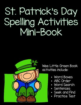 Wee Little Green Book March St. Patrick's Day Spelling Activity Mini-Book