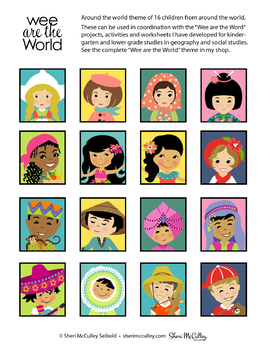 Wee are the World Children Stickers