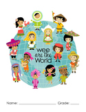 Wee are the World binder cover insert