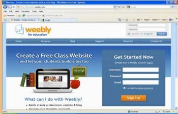 Weebly Student e-Portfolios