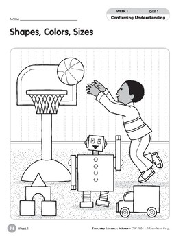 Week 01: Shapes, Colors, Sizes (Everyday Literacy, Science)