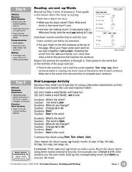 Week 01: Snap, Tap, Clap (Word Families -am,-ap)