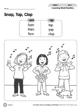 Week 01: Snap, Tap, Clap (Word Families -am,-ap)
