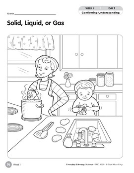 Week 01: Solid, Liquid, or Gas (Everyday Literacy, Science)