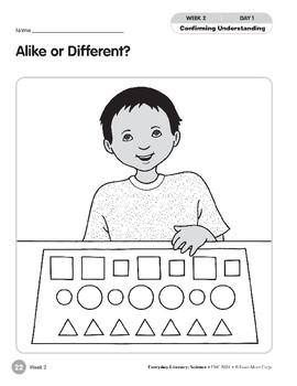 Week 02: Alike or Different? (Everyday Literacy, Science)