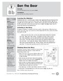 Week 02: Ben the Bear--Bb (Everyday Literacy, Reading & Writing)