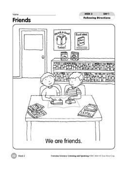 Week 02: Friends (Everyday Literacy, Listening & Speaking)