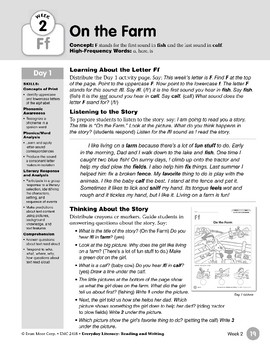 Week 02: Initial & Final Ff (Everyday Literacy, Reading & Writing)