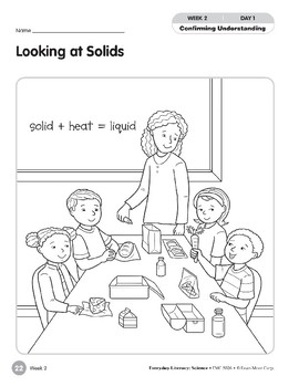 Week 02: Looking at Solids (Everyday Literacy, Science)