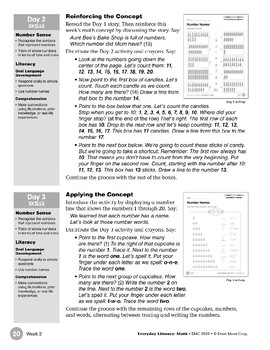 Week 02: Number Names (Everyday Literacy, Math)