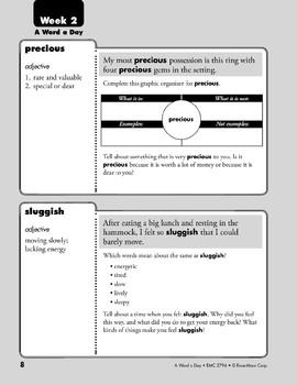Week 02: precious, sluggish, discussion, advance (A Word a Day)