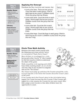 Week 03: Count to 5 (Everyday Literacy, Math)