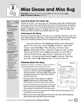 Week 03: Initial & Final Gg (Everyday Literacy, Reading & Writing)