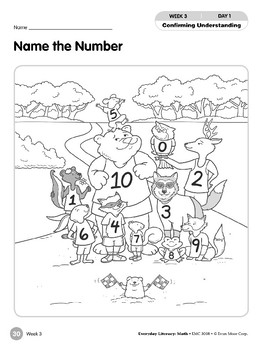 Week 03: Name the Number (Everyday Literacy, Math)