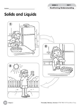 Week 03: Solids and Liquids (Everyday Literacy, Science)