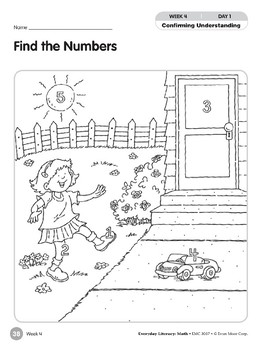 Week 04: Find the Numbers (Everyday Literacy, Math)