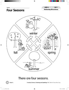 Week 04: Four Seasons (Everyday Literacy, Listening & Speaking)