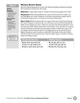 Week 04:  Review It - Bb, Ff, Gg (Everyday Literacy, Reading & Writing)