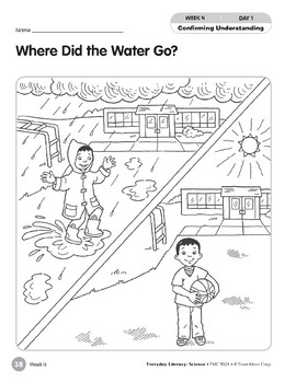 Week 04: Where Did the Water Go? (Everyday Literacy, Science)