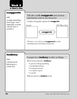Week 04: exaggerate, tendency, persistent, extricate (A Word a Day)