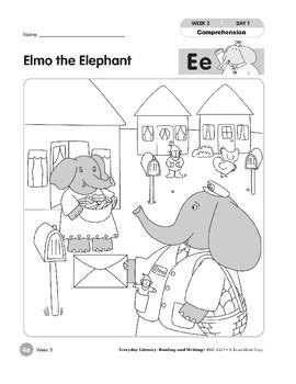 Week 05: Elmo the elephant--Ee (Everyday Literacy, Reading & Writing)