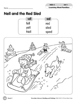 Week 05: Nell and the Red Sled (Word Families -ell,-ed)