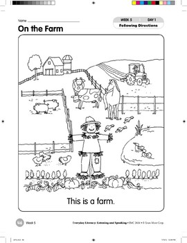 Week 05: On the Farm (Everyday Literacy, Listening & Speaking)
