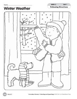 Week 05: Winter Weather (Everyday Literacy, Listening & Speaking)
