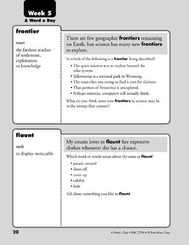 Week 05: frontier, flaunt, terminology, digit (A Word a Day)